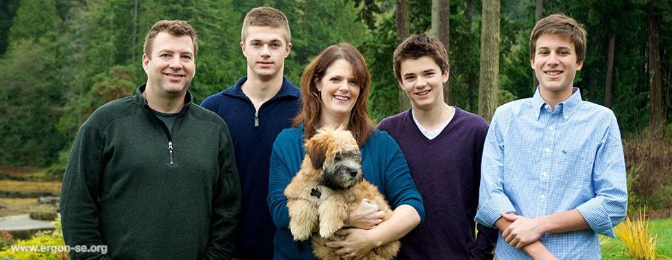 Ergon-Andrea-host-family-Jill-Kevin-Clayton-Gavin